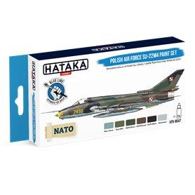 Hataka BS047 BLUE-LINE Zestaw farb POLISH AIR FORCE SUKHOI SU-22M4