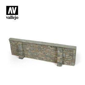 Vallejo DIORAMA ACCESSORIES 1:35 Ardennes Village Wall 24x7 cm. 1:35