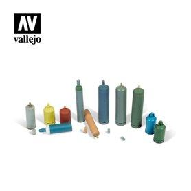 Vallejo DIORAMA ACCESSORIES 1:35 Modern Gas Bottles 1:35
