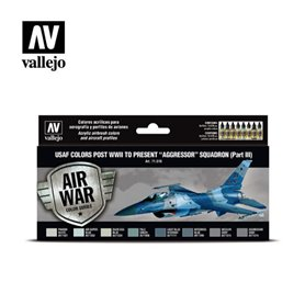 Vallejo Zestaw Air War 8 farb - USAF colors post WWII to present Aggressor Squadron Part III