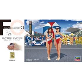 Hasegawa FC03-29103 90's Paddock Girls Figure