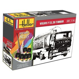 Heller 57704 Starter Set - Volvo F12-20(do drewna)