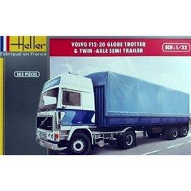 Heller 81703 Volvo F12-20 z naczepą plandekową