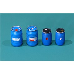 Plastic chemical storage drums Set#1
