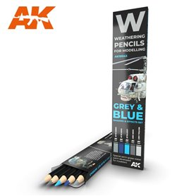 AK Interactive WATERCOLOR SET GREY AND BLUE CAMOUFLAGES