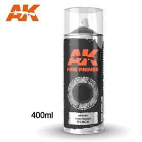 AK Interactive FINE PRIMER - podkład w sprayu - BLACK - 400ml