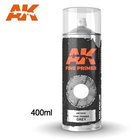 AK Interactive Fine Primer Grey - Spray 400ml (Includes