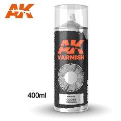 AK Interactive Gloss Varnish - Spray 400ml (Includes 2