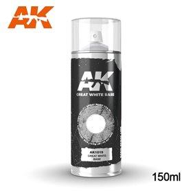 AK Interactive GREAT WHITE BASE - farba w sprayu -150ml