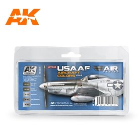 AK Interactive WWII USAAF AIRCRAFT COLORS VOL.2 SET