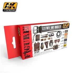 AK Interactive Leather and Buckles Set