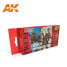 AK Interactive French Uniform Colors Set