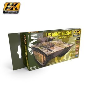 AK Interactive US Army & USMC Camouflage Colors Set