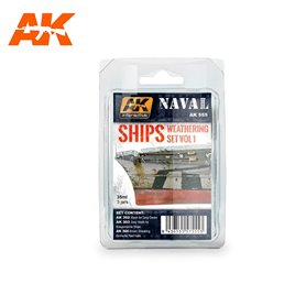 AK Interactive SHIPS WEATHERING SET VOL.1
