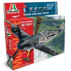 Italeri 1:72 Messerschmitt Bf-109F | Model Set | z farbami |