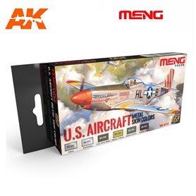 MENG US Aircraft Metal Skin Color Set