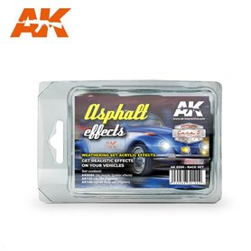 AK Interactive Asphalt Effects Race Set