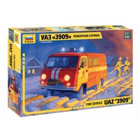 Zvezda 1:43 UAZ 3909 - FIREFIGHTER CAR