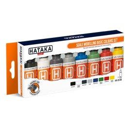 Hataka CS100 ORANGE-LINE Zestaw farb SCALE MODELLING BASIC COLORS