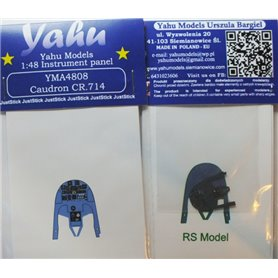 Yahu Models 1:48 Tablica przyrządów do Caudron 714 Cyklone dla RS Model