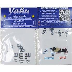 Yahu Models 1:48 Tablica przyrządów do Petlakov Pe-2 dla Zvezda
