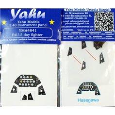 Yahu Models 1:48 Tablica przyrządów do Vought F4U-5 Corsair - DAY FIGHTER - dla Hasegawa