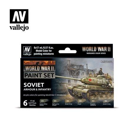 Zestaw World War II 6 farb - Soviet Armour & Infantry