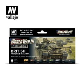 Zestaw World War III 6 farb - British Armour & Infantry