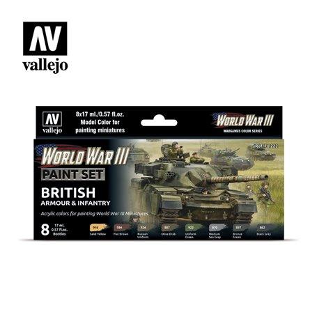 Zestaw World War III 6 farb - British Armour & Infantry
