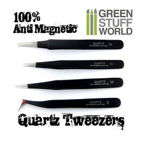 Green Stuff World Anti-magnetic QUARTZ Tweezers SET