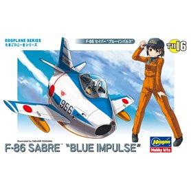 Hasegawa TH16-60126 Egg Plane F-86 Blue Impuls