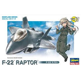 Hasegawa TH17-60127 Egg Plane F-22 Raptor
