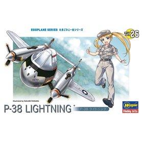 Hasegawa TH26-60136 Egg Plane P-38 Lightning