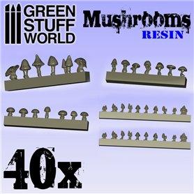 Green Stuff World 40x Resin Mushrooms and Toadstools