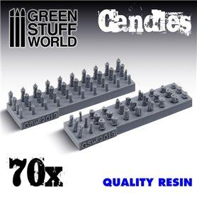 Green Stuff World 70x Resin Candles