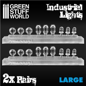 Green Stuff World 18x Resin Industrial Lights – Large