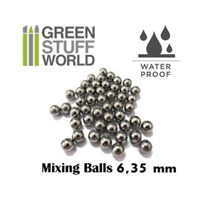 Green Stuff World Mixing Paint Steel Bearing Balls in 6.35mm