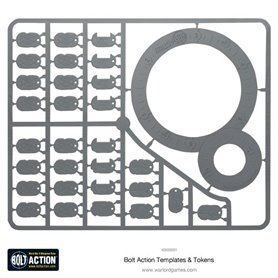 Bolt Action Szablony TEMPLATES AND TOKENS
