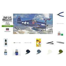 Zestaw Startowy Samolot F6F Hellcat - model do sklejania w skali 1:72