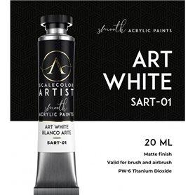 Scalecolor Artist Art White - farba akrylowa w tubce 20ml