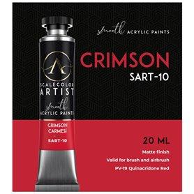 Scalecolor Artist Crimson - farba akrylowa w tubce 20ml