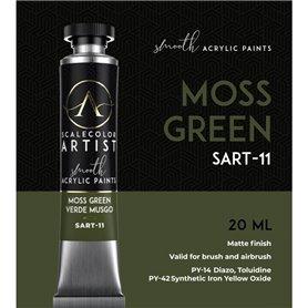 Scalecolor Artist Moss Green - farba akrylowa w tubce 20ml
