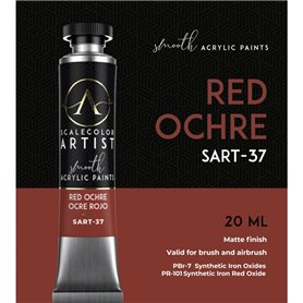 Scalecolor Artist Red Ochre - farba akrylowa w tubce 20ml