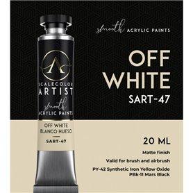 Scalecolor Artist Off White - farba akrylowa w tubce 20ml