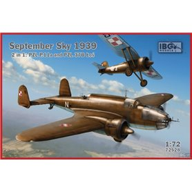 IBG 1:72 September Sky 1939 PZL P.11A + PZL 37B Łoś