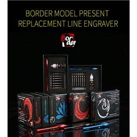 Border Model BD0051 Replacement Line Engraver Blue