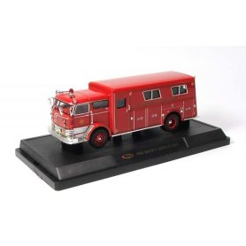 Signature Models 1:50 Mack Rettungswagen 1960 red
