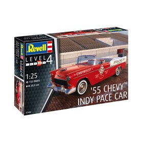 Revell 1:25 1955 Chevy INDY PACE CAR - MODEL SET - z farbami