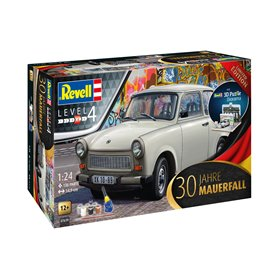 Revell 1:24 30TH ANNIVERSARY - TRABANT + FALL OF THE BERLIN WALL - w/paints