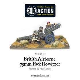 Bolt Action British Airborne 75mm Pack Howitzer & Crew